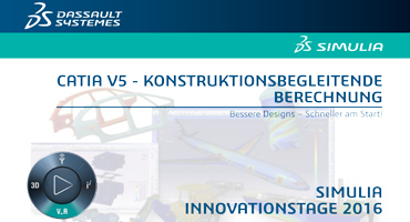 Dassault Systèmes: SIMULIA INNOVATIONSTAGE – CATIA V5 ANALYSIS